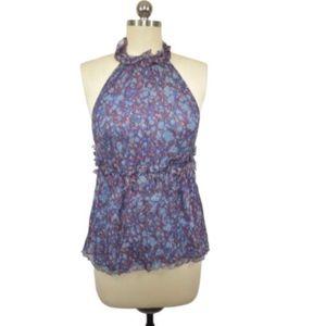 M.S.S.P Max Studio Blue Floral Blouse Size M
